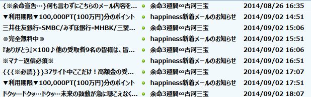 happiness保存メール